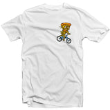Pizza Delivery Color Print White T