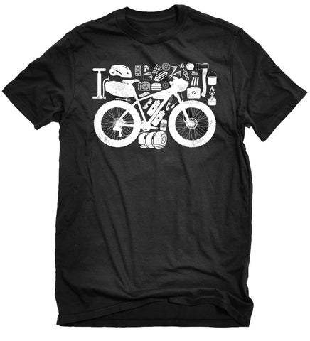 """Fat Bikepacker"" Black T"