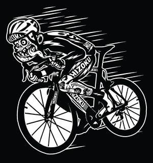 "Limited Edition ""Downhill Cyclist"" T + Free Reflective Decal"