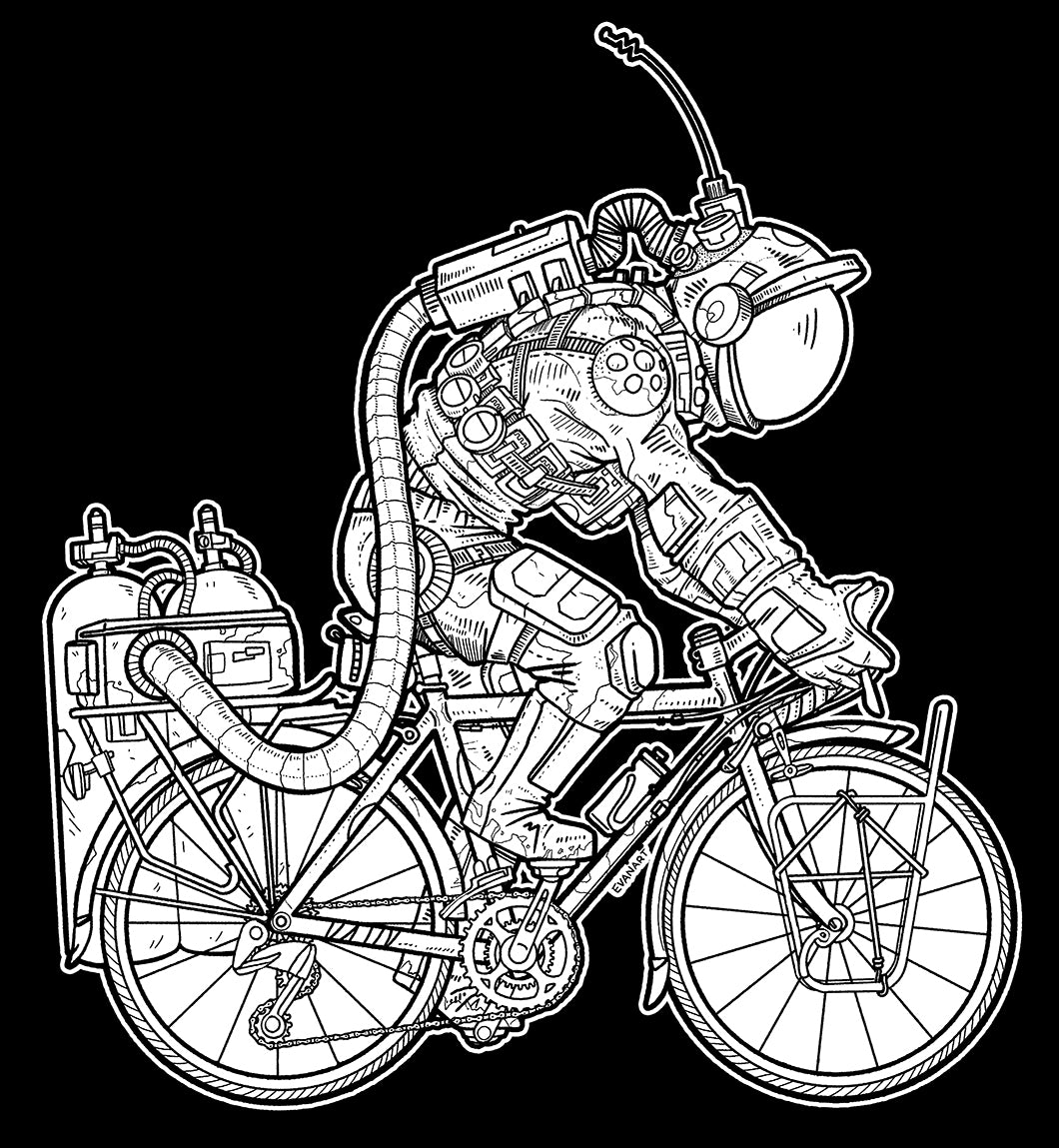 """The Cyclenaut"" T by Evan Miller"