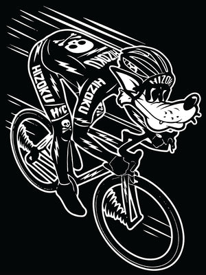 "Limited Edition ""Wolfy Speed Cyclist"" T + Free Reflective Decal"