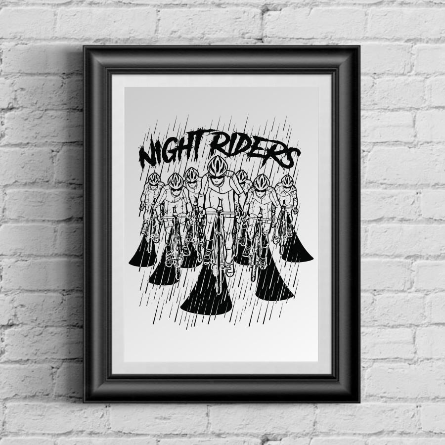Limited Edition Night Riders 13 x 19 Poster Print