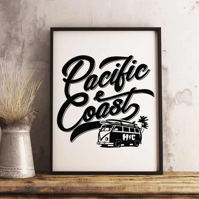 Pacific Coast 13 x 19 Poster Print