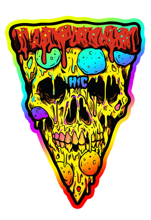 Copy of Pizza Skull Color 13 x 19 Poster Print