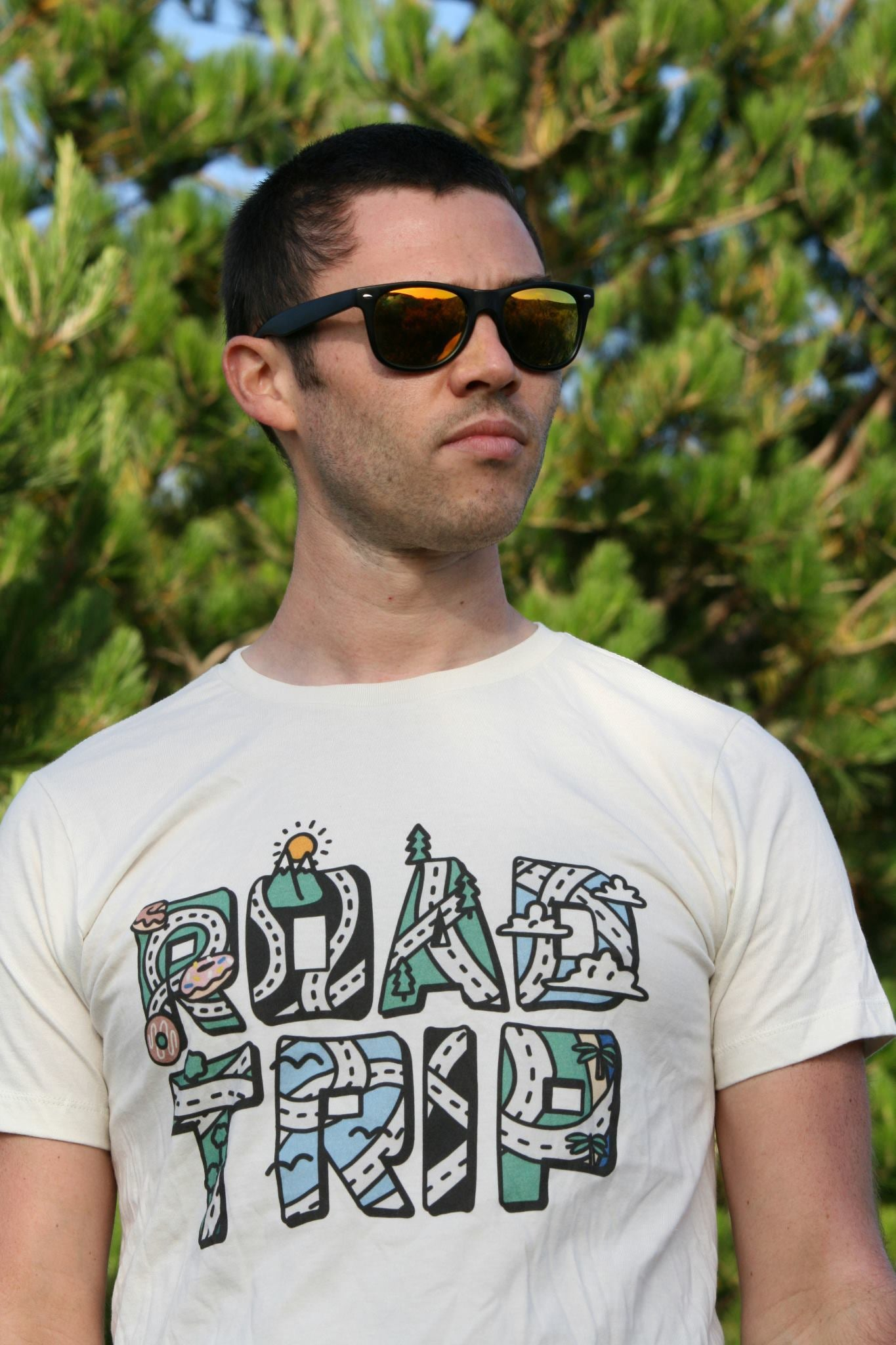 "Limited Edition ""90's Road Trip"" Color Print Sand T"