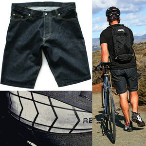 Indigo Cordura Denim Cycling Shorts
