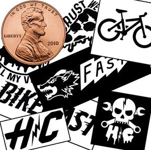 1¢ VINYL DECAL PACK