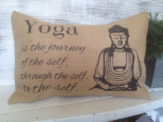 Spritual Meditation Quote Pillow