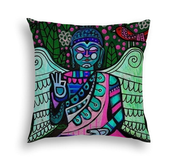 Buddha Pillow Enlightenment  Art Pillow