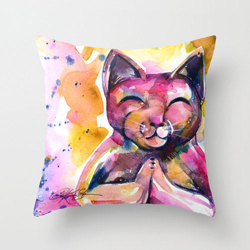 Budist Meditation Zen Cat Pillow