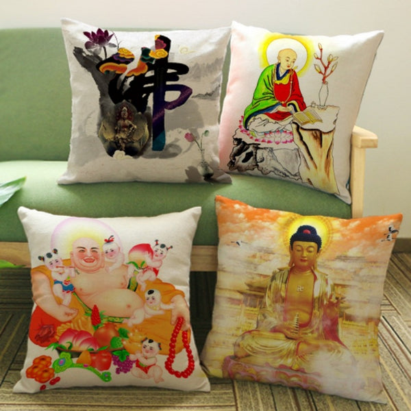 Meditation Pillows Buddha Print