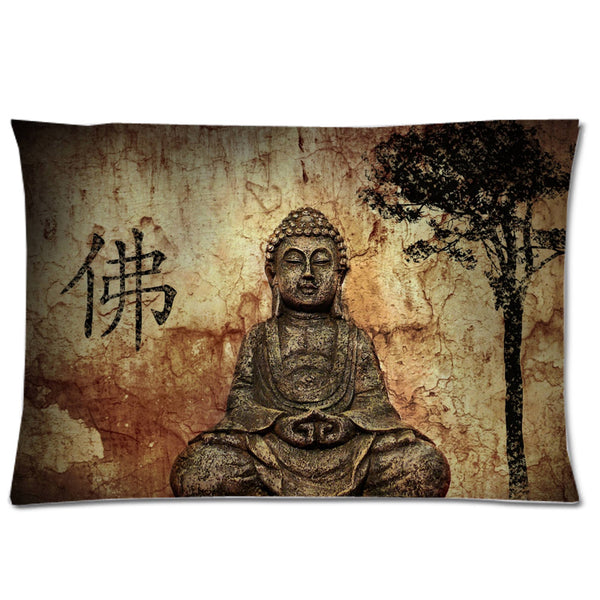 Buddha Background Decorative Pillowcase