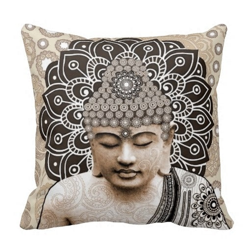 "Buddha Pillow Case (Size: 20"" by 20"") Free Shipping"