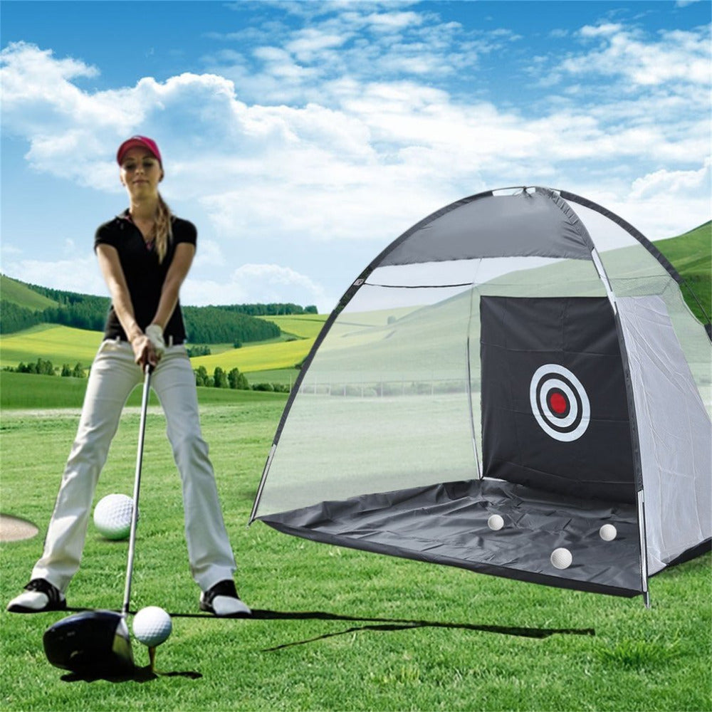 3*1.68*2M Golf Practice Cage Driving Hit Net Training Mat Aid Tool Golf Ball Storage Holder Foldable With Carry Bag Accessories