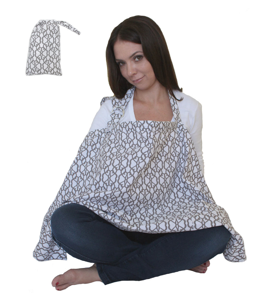 a1969e81f2484 Nursing Cover for Breastfeeding Privacy EXTRA WIDE for Full Coverage -  Breathable 100% Cotton ...
