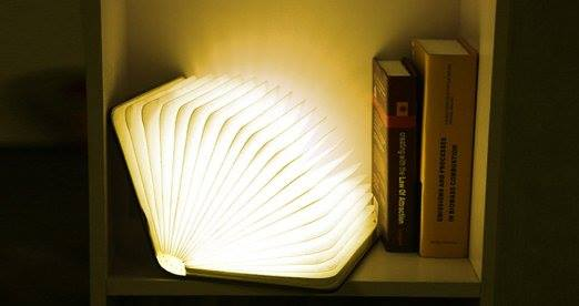 Light Book Custom Foldable Wooden LED Book Light BG's Cool Nerd