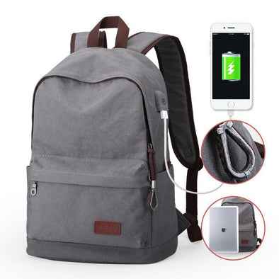 Slick Backpack with Chargeable Port