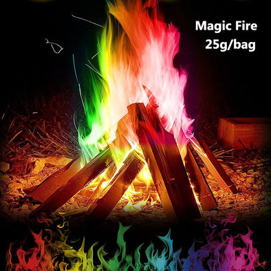 Magic Fire: Creates Colorful Flames For Wood Burning Fires! - BG's Cool Nerd