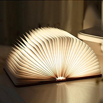 Foldable Wooden LED Book Light - BG's Cool Nerd