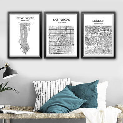 Vintage City Maps - BG's Cool Nerd