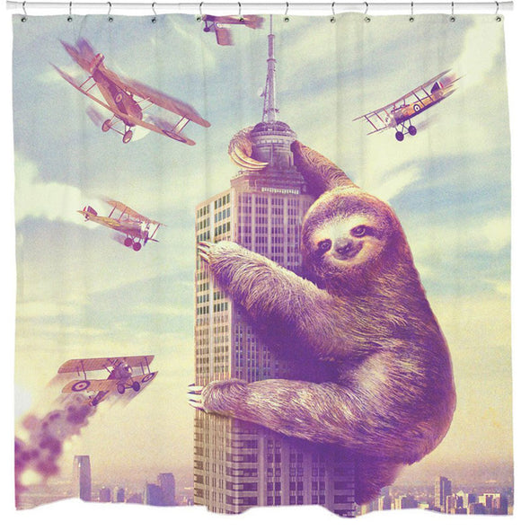 Sloth Waterproof Shower Bathroom Curtain - BG's Cool Nerd