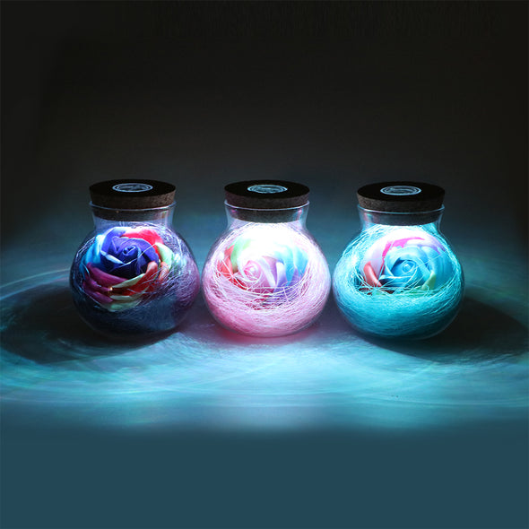 Romantic LED Rose Flower Bottle - BG's Cool Nerd