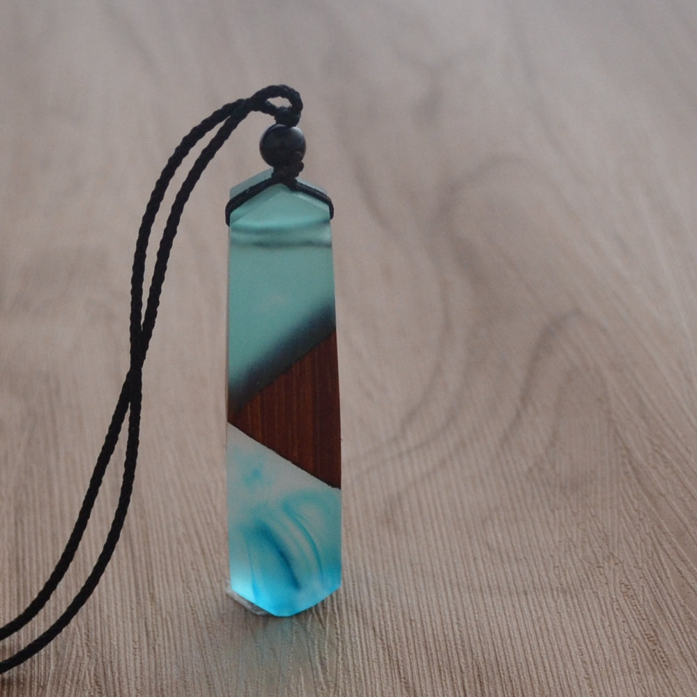 Wood Pendant Birthday/'s gift Wood Resin Pendant Wood necklace Pendant made of wood in resin B\u00cdNA Resin Jewelry Unique Gift