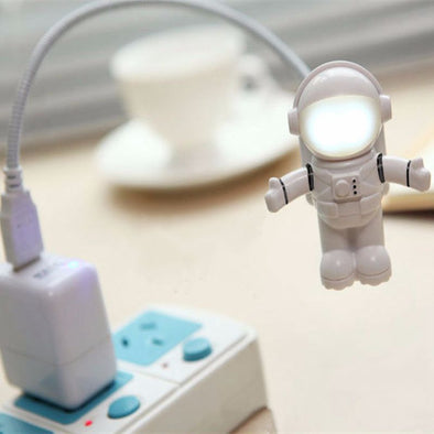 New Mini White Flexible Astronaut USB LED Light - BG's Cool Nerd