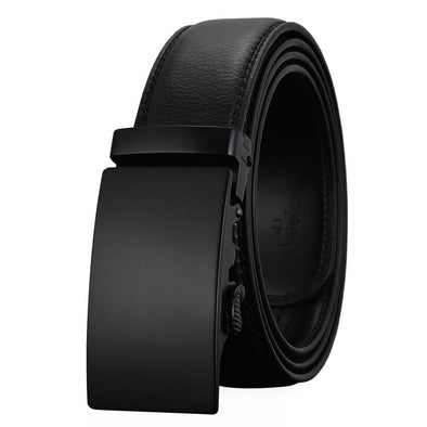 Business Men's Leather Belt with Comfort Click - BG's Cool Nerd