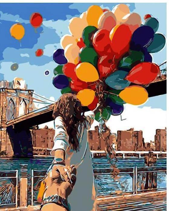 Colorful Balloon Couple Photo DIY Painting By Numbers [LIMITED PRINT] - BG's Cool Nerd