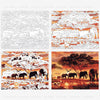 Elephants Landscape DIY Digital Painting By Numbers - BG's Cool Nerd