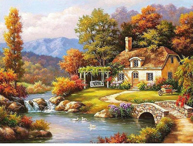 Fairyland Landscape DIY Digital Painting By Numbers - BG's Cool Nerd