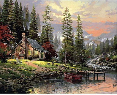 Cabin in the Woods DIY Painting By Numbers - BG's Cool Nerd