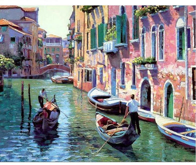 Gondola Scenery DIY Painting By Numbers - BG's Cool Nerd