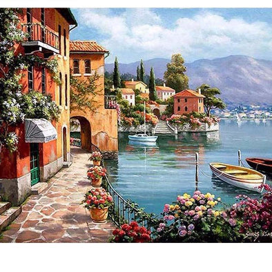Venice Resorts Seascape DIY Painting By Numbers - BG's Cool Nerd