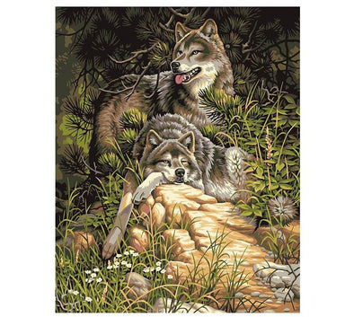 Tranquil Wolf DIY Painting By Numbers - BG's Cool Nerd