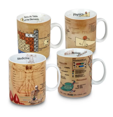 4 Piece Mugs of Knowledge Set - BG's Cool Nerd