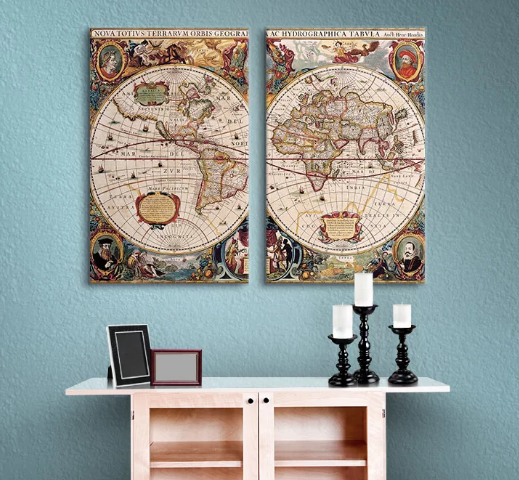 World map 2 piece framed graphic art on wrapped canvas set bgs world map 2 piece framed graphic art on wrapped canvas set gumiabroncs Image collections
