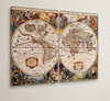 World Map 2 Piece Framed Graphic Art on Wrapped Canvas Set - BG's Cool Nerd