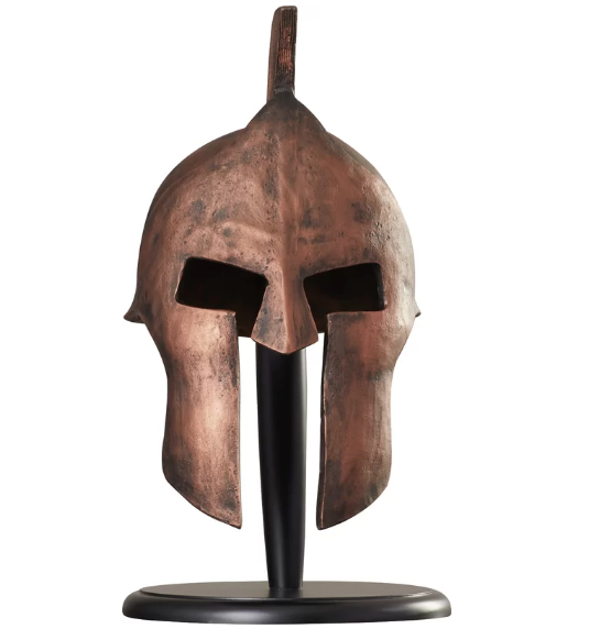 Greek Spartan Helmet Sculpture - BG's Cool Nerd
