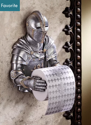 A Knight to Remember Gothic Bath Tissue Holder - BG's Cool Nerd
