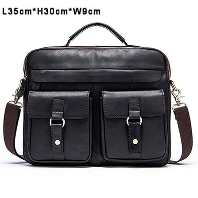WESTAL Genuine Leather Men Bag - BG's Cool Nerd