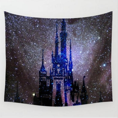 Magical Castle Amongst the Stars Tapestry - BG's Cool Nerd