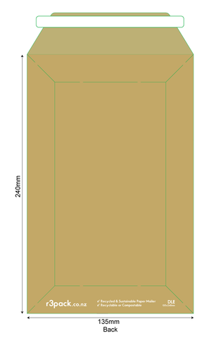 Paper Courier Bag DLE 135x240mm (pack of 100)