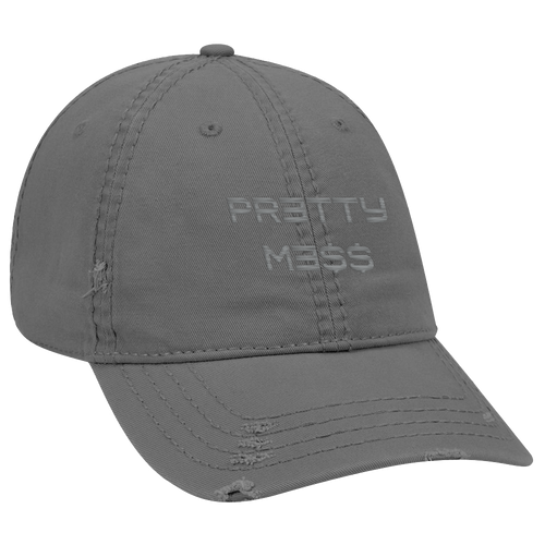 Pretty Me$$ Distressed Hat [Gray]