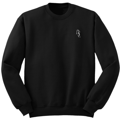 DSL Embroidered Crew Sweatshirt [Black/White]