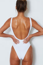 Santorini One Piece in White on model