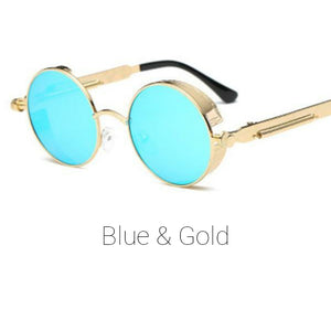 Blue & Gold Time Traveller Sunglasses