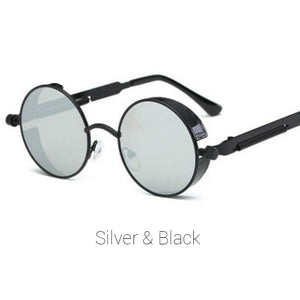 Silver & Black Time Traveller Sunglasses