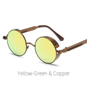 Yellow-Green & Copper Time Traveller Sunglasses